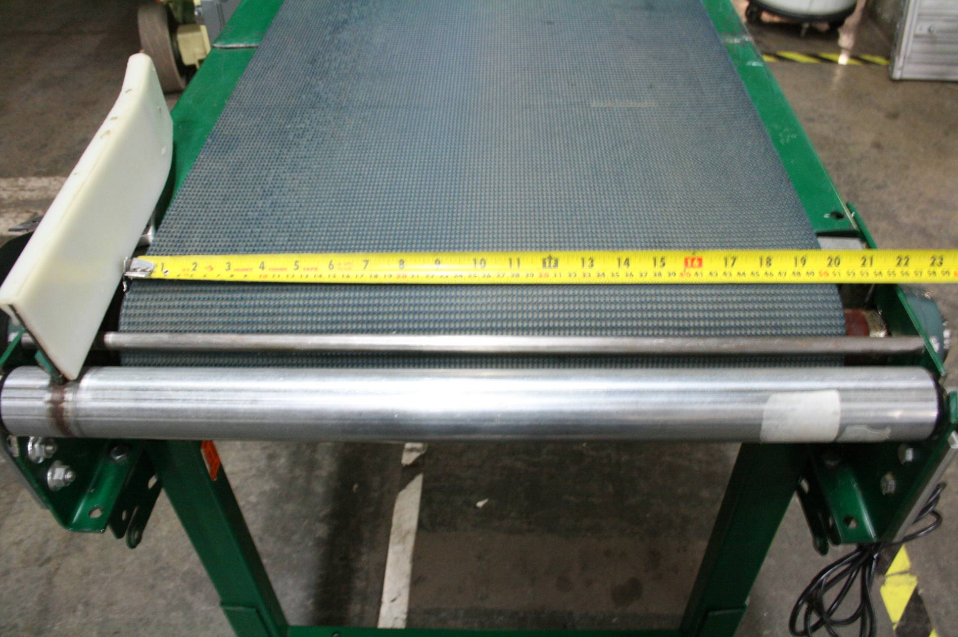 Alvey 48 x 20 steel belt conveyor with interroll 24v Motorized conveyor belt