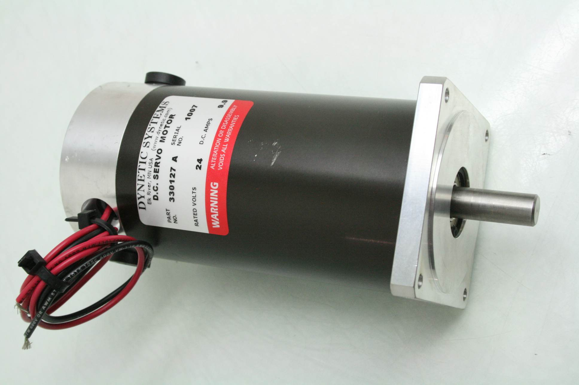 Dynetic systems 330127 dc brushed nema 34 servo motor 24v for 24 volt servo motor