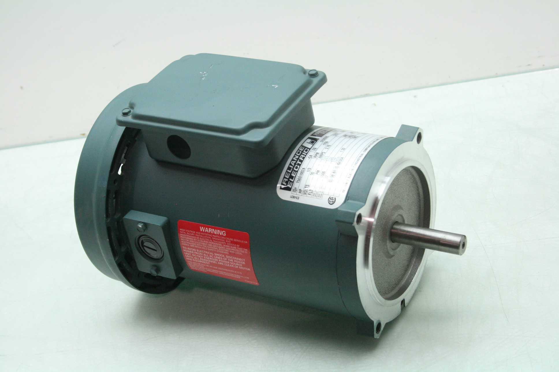 Reliance t56s1002a 1 3 hp dc motor 90v dc winding nema for Dc motor 1 3 hp