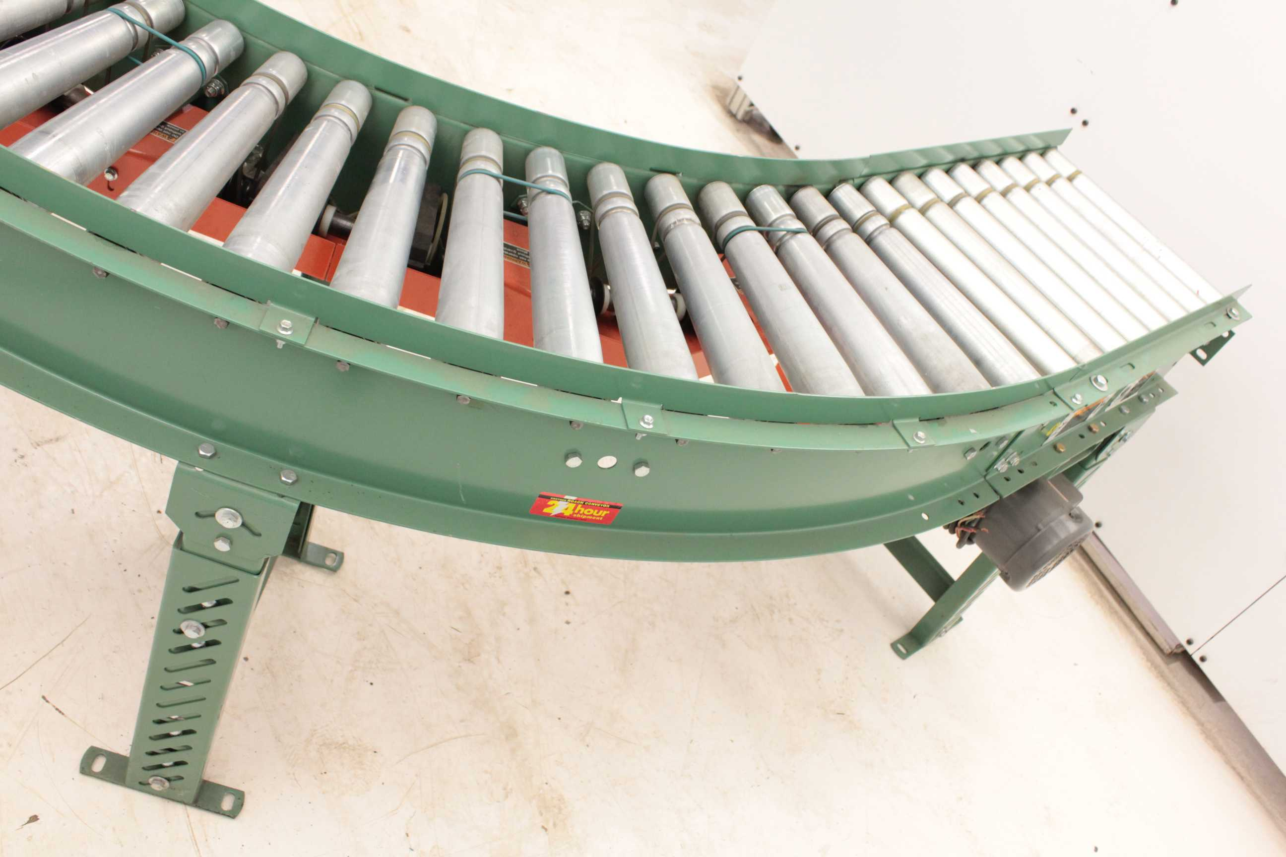 Roach End Drive Powered Right Angle Roller Conveyor 14
