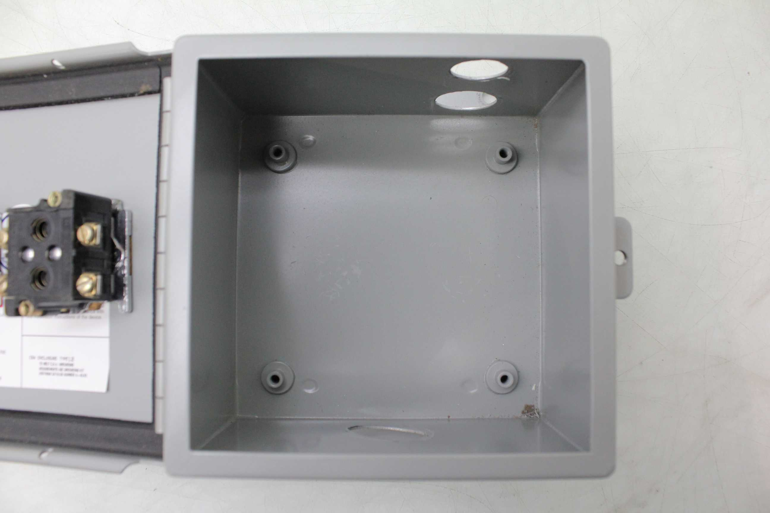 Hoffman A 606ch Junction Box Nema 12 Hinged Cover Steel